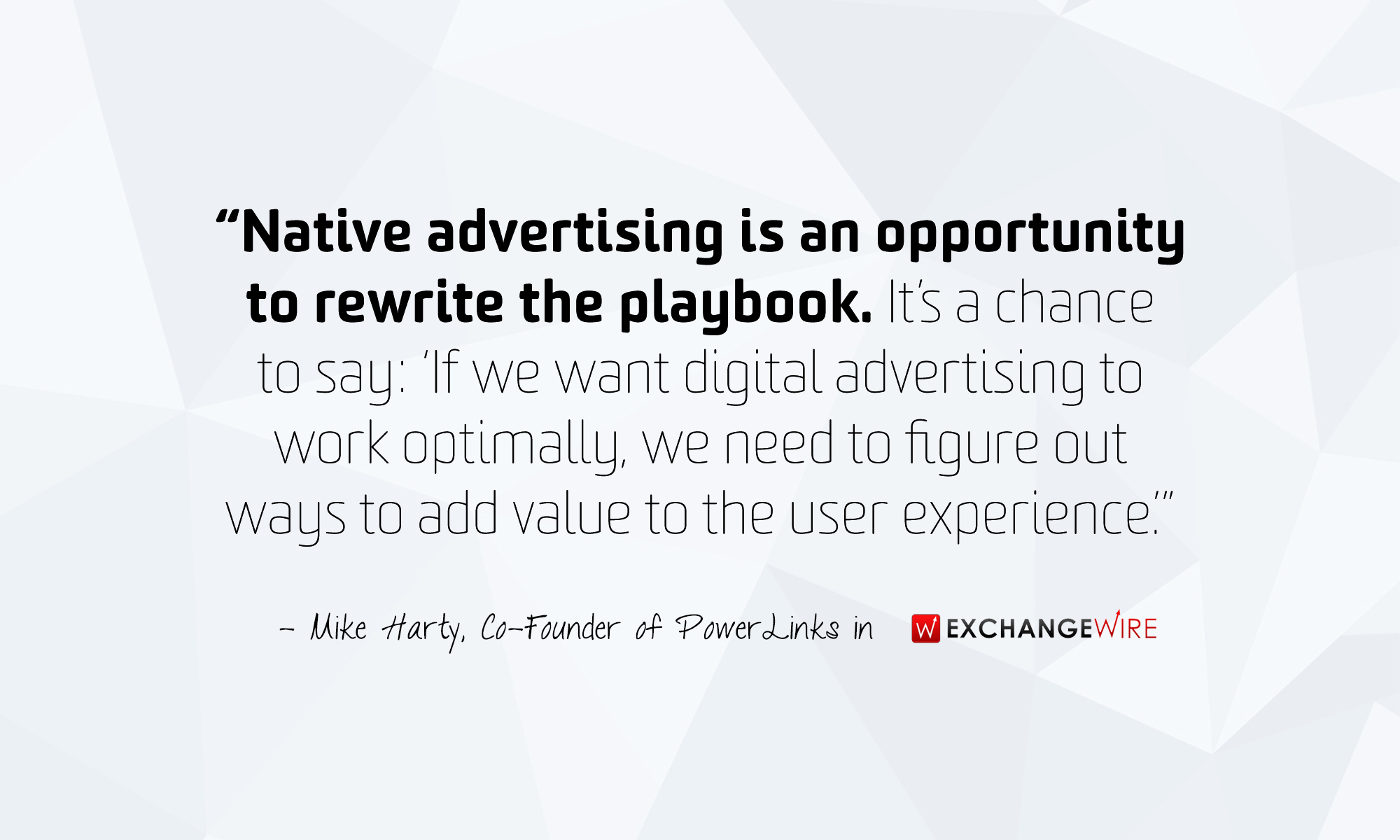 Native Advertising - Mike Harty ExchangeWire March 2015